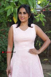 Actress Srushti Dange Stills in Short Dress at Mupparimanam Press Meet  0033.jpg