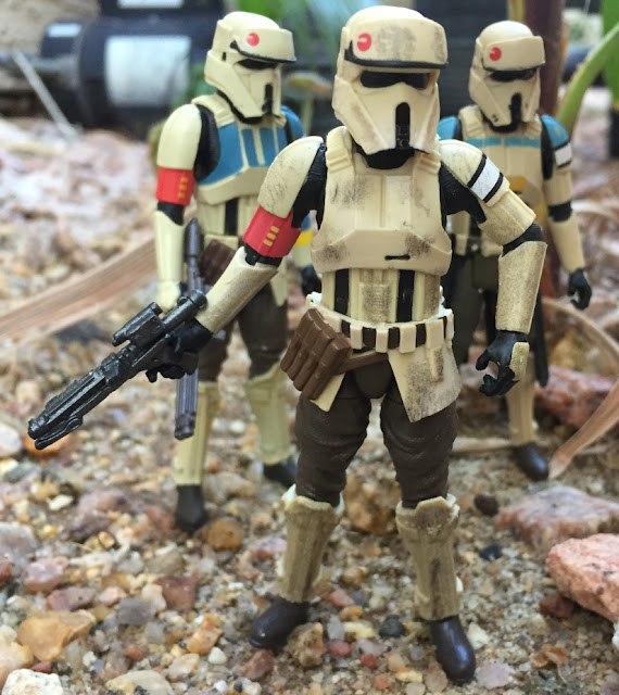 2016 Scarif Trooper Squad Leader, 3.75 Black Series, Shoretrooper, Rogue One, Star Wars, Wal Mart Exclusive, Bistan, Ponda Boba, Walrusman, Sandtrooper, Edrio Two Tubes