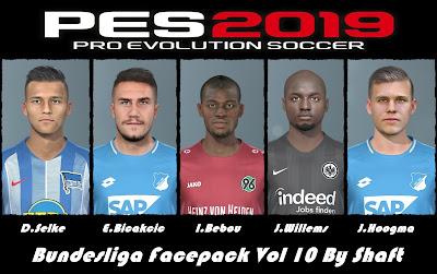 PES 2019 Bundesliga Facepack Vol 10 by Shaft
