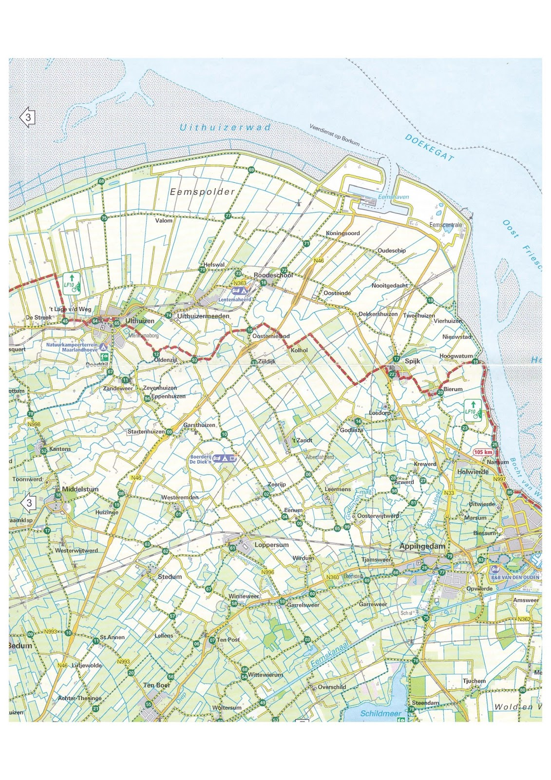 Netherlands Bikeways Guidebook research V the highlands of Groningen