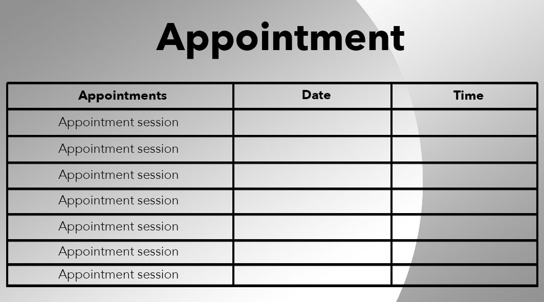appointment card designs - Roho4senses