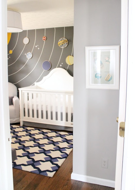 solar system nursery baby room - photo #2