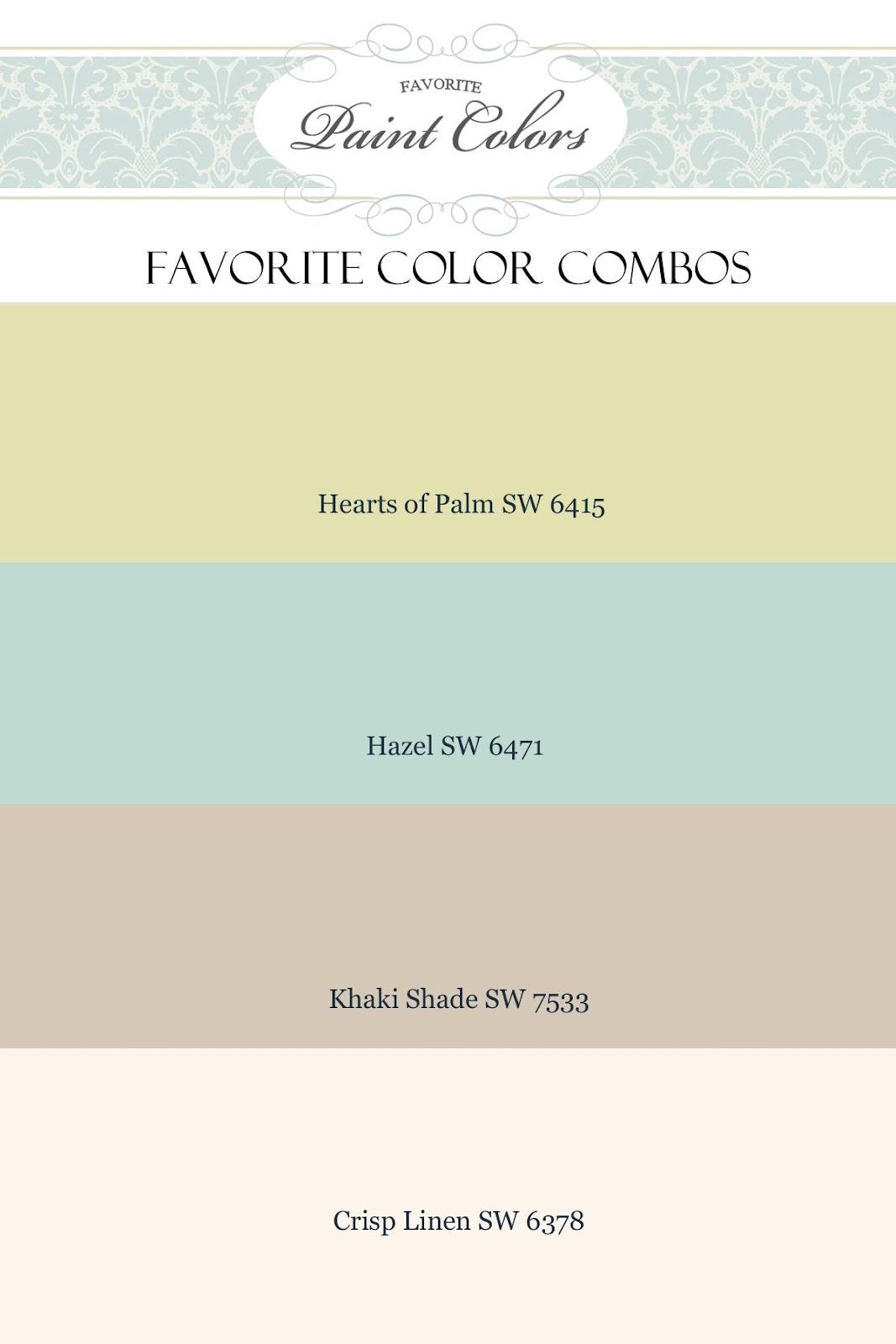 Favorite Paint Colors February 2012