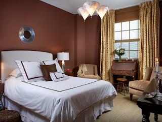 decoración de dormitorio chocolate