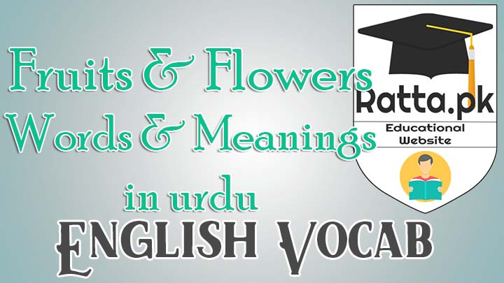 Fruits and Flowers English Words and Meanings in Urdu - English Vocabulary