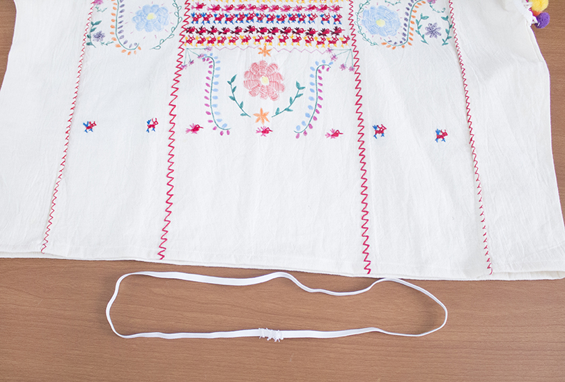craft challenge faux embroidery tutorial refashion elastic