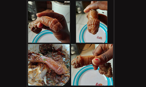 Photos: Woman finds penis-shaped meat in her food at restaurant