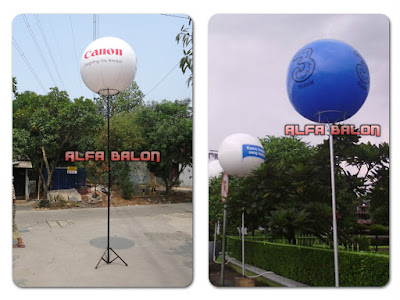 Balon Lighting Tiang Display
