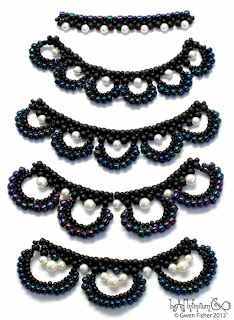Beaded Lace Swags