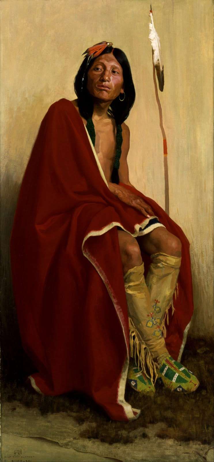Eanger  Irving  Couse  Elk Foot  of  the  Taos  Tribe