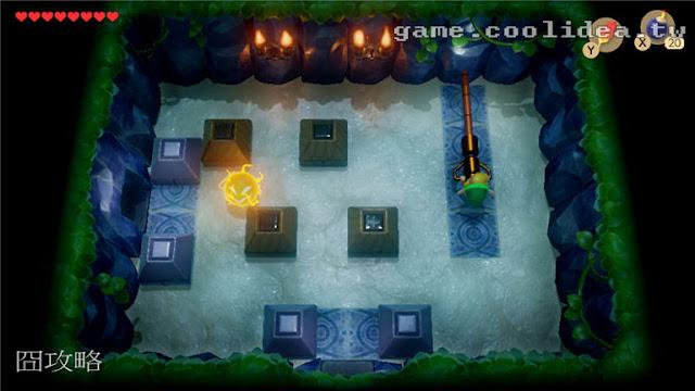 薩爾達 織夢島攻略 燈魚怪瀑布池迷宮11