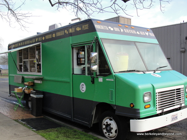 Bruschetteria food truck at Clif Family Velo Vino Tasting Room in St. Helena, California