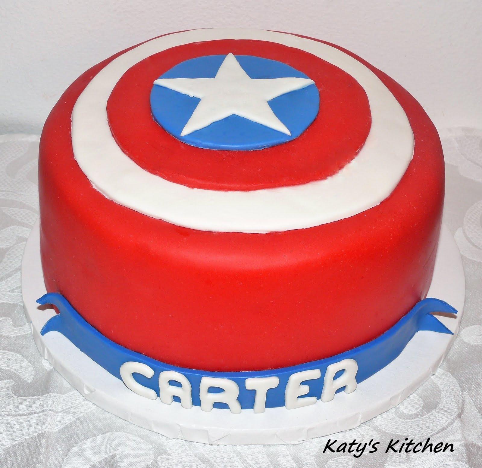 Katys Kitchen Captain America Shield Cake