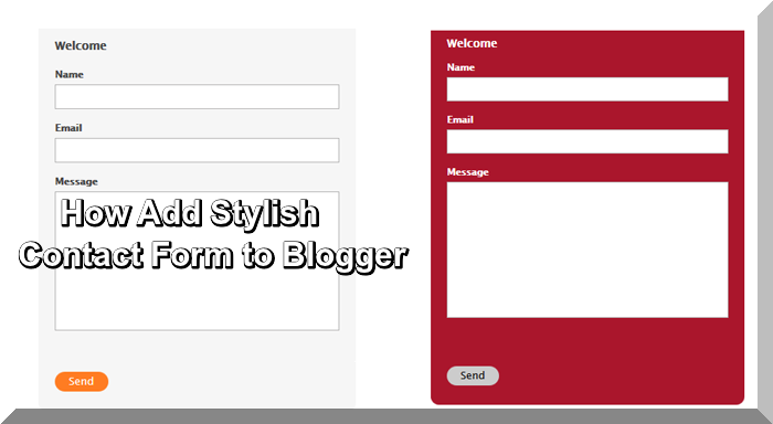 How Add Stylish Contact Form to Blogger