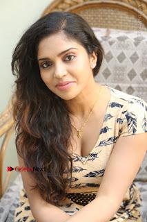 Telugu Actress Karunya Chowdary Stills in Short Dress at ATM Not Working Press Meet  0237.jpg