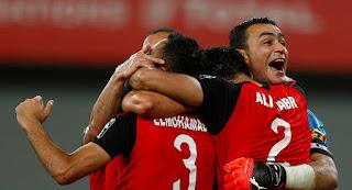 مصر تفوز على الكونغو وتتاهل لكاس العالم بعد غياب 28 عام