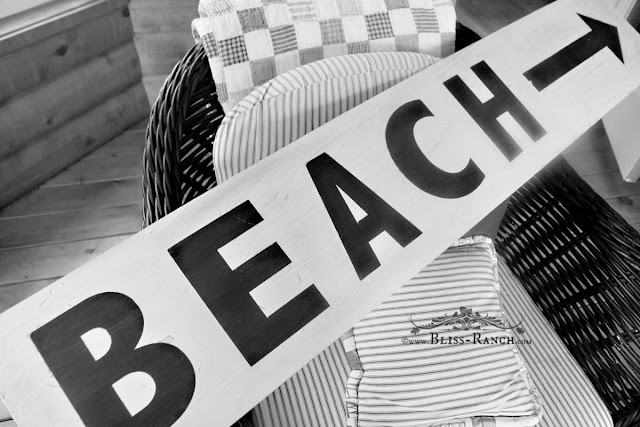 Beach Sign, Bliss-Ranch.com