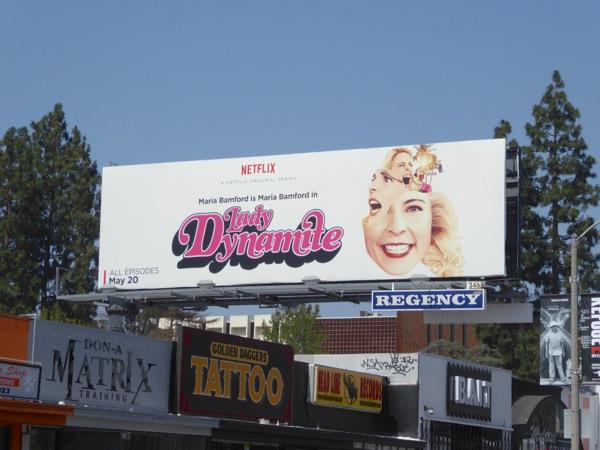 Lady Dynamite series premiere billboard