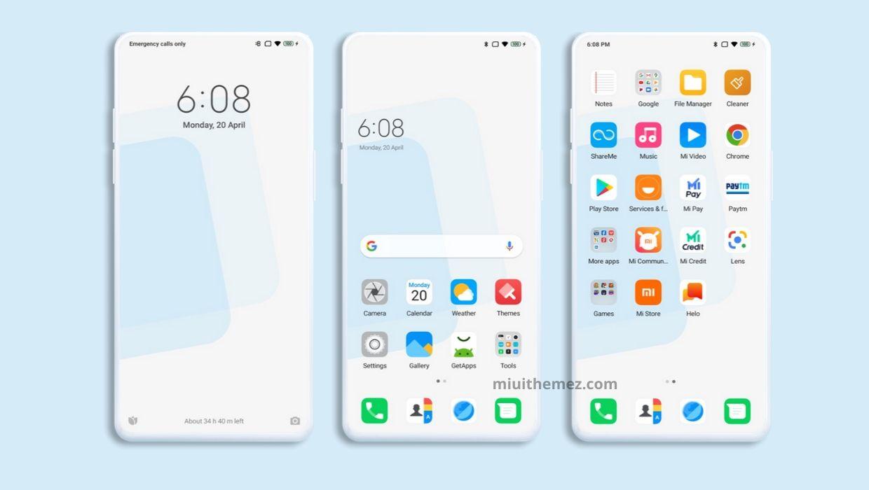 [HERUNTERLADEN] :  Destro OS MIUI Theme |  Holen Sie sich einen sauberen weißen Look auf Xiaomi-Geräten