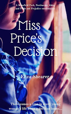 giveaway, Miss Price's Decision, Eliza Shearer, Jane Austen retellings, JAFF, Mansfield Park, Pride and Prejudice