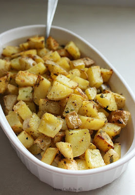potatoes in casserole dish ready to eat