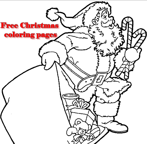 Free Christmas coloring pages pdf Download Coloring Page
