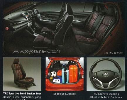 Beda All New Yaris G Dan Trd Avanza Grand Veloz Bekas Perbedaan Type Toyota E S Warna Sportivo 2014