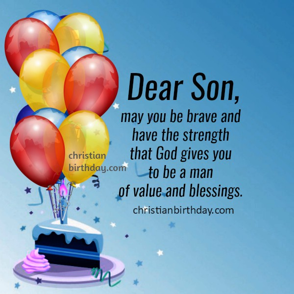 happy birthday wishes to my son, quotes and image  christian, Birthday card