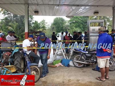 EN PAYITA: Asesinan hombre durante en atraco en bomba de venga de gas