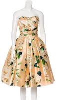 Dolce gabbana dress silk rose print