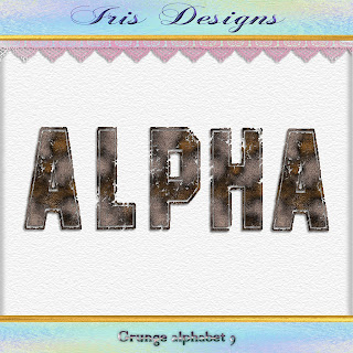 Grunge alphabet 9