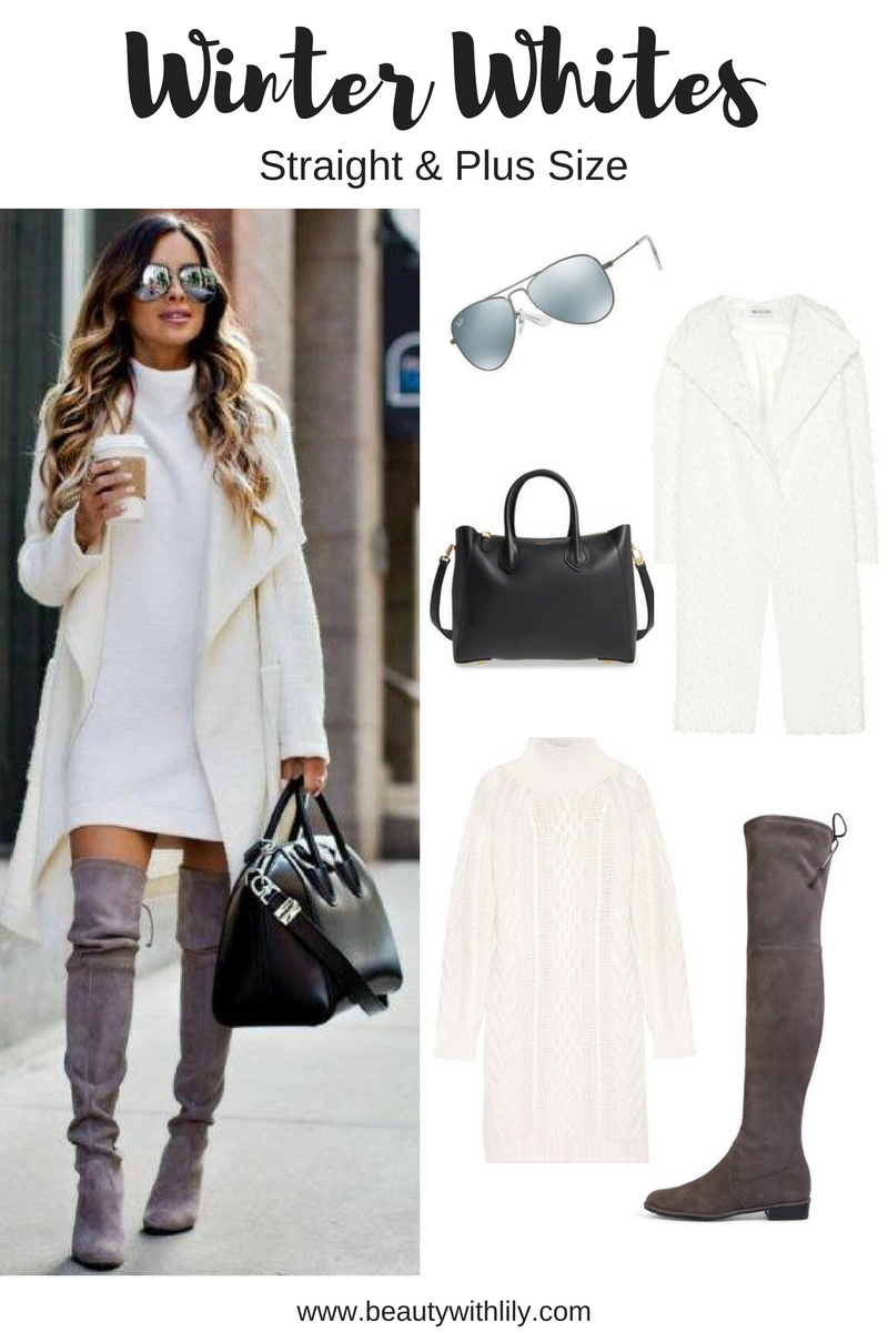 Winter White Outfit Ideas - Stylish Outfit | How to style white during the winter months >>> beautywithlily.com