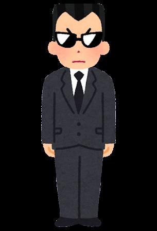 黒服にサングラスの男性のイラスト