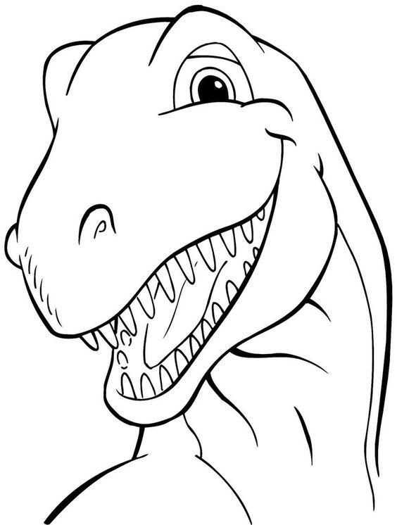 Tranh tô màu cận cảnh khủng long bạo chúa