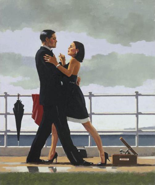 Valsa de Aniversário - Jack Vettriano e suas pinturas cheias de encontros íntimos