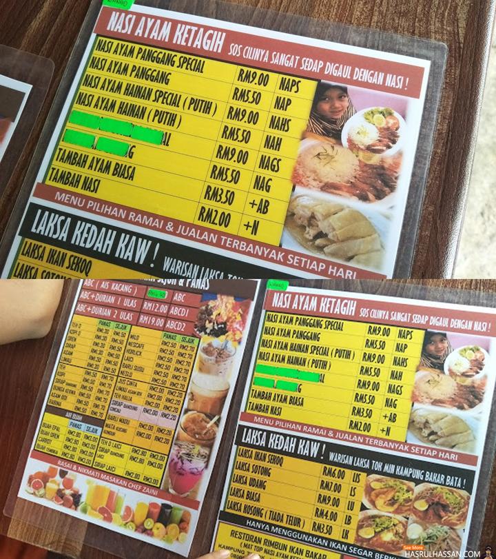 Menu Makanan dan Minuman Restoran Mat Top