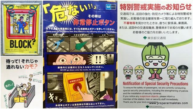 carteles peligro divertidos tokio
