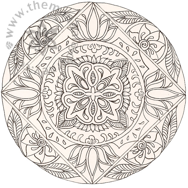 Printable Art Work   Art Line Mandalas And Tagged Birth Art Childbirth  Coloring