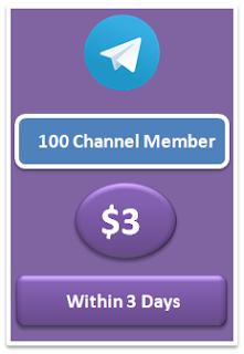 100 buy telegram channel member