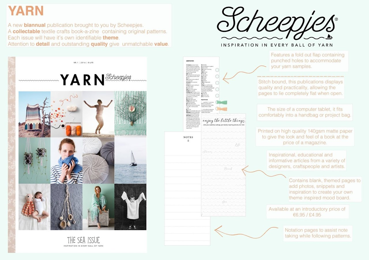 Yarn - a new book-a-zine published by Scheepjes