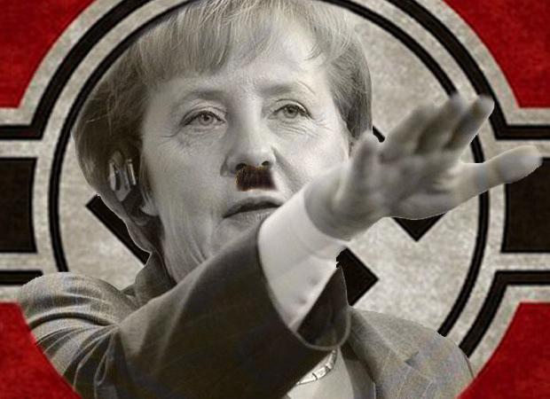 """Vaizdo rezultatas pagal užklausą """"Merkel ir hitleris"""""""