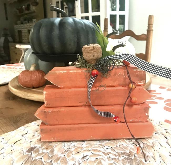 Scrap Wood DIY Rustic Pumpkin