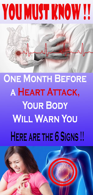 One Month Before a Heart Attack, Your Body Will Warn You – Here are the 6 Signs