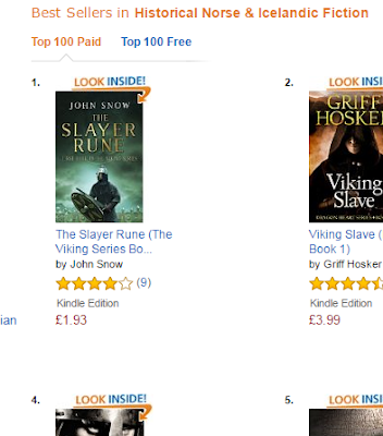 John Snow and The Slayer Rune on the bestseller list!