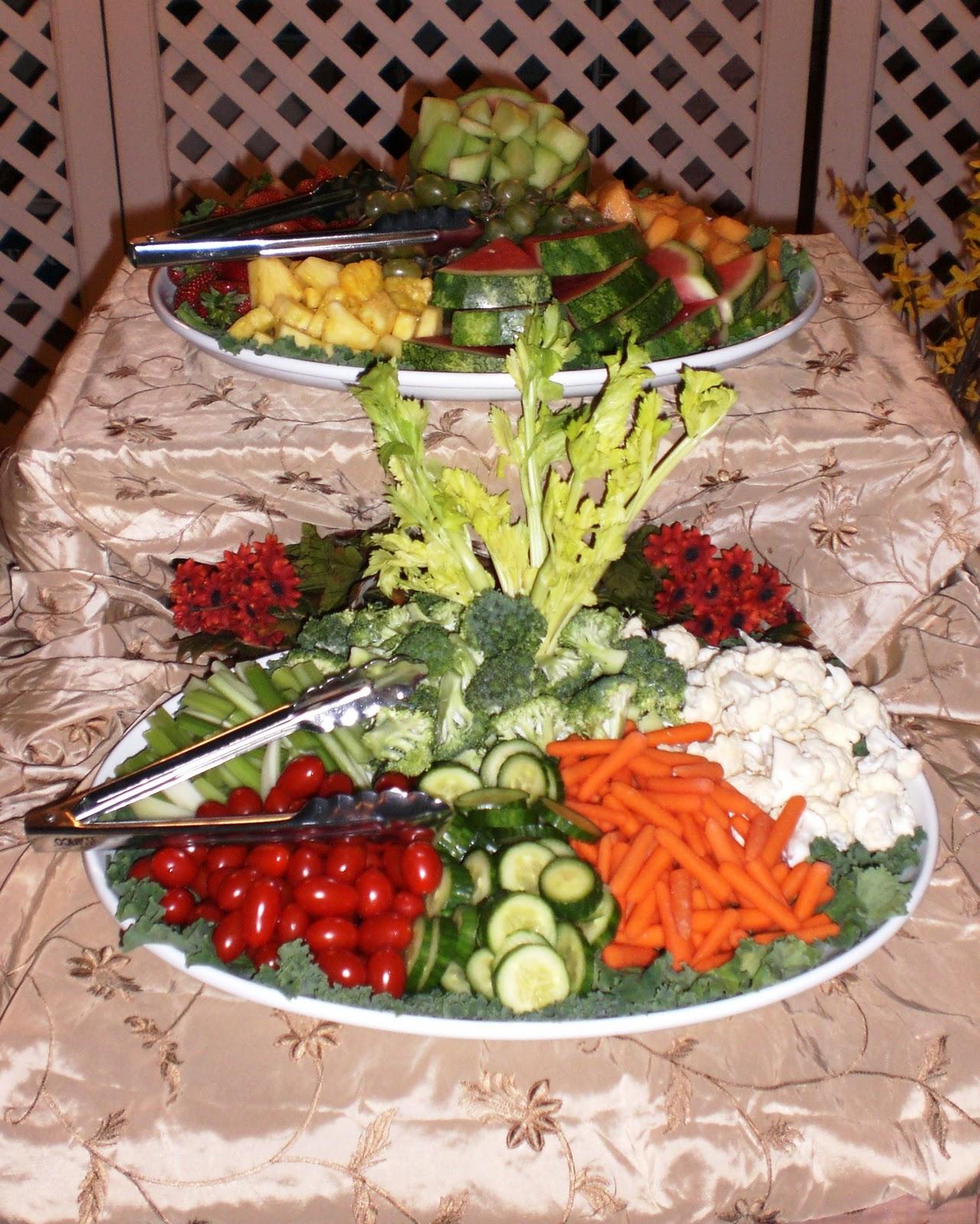 Wedding Reception Food Trays: Sassy Stripes Catering