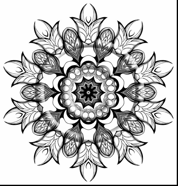 Unbelievable Zentangle Mandalas Coloring Pages With Kaleidoscope Coloring  Pages And Free Kaleidoscope Coloring Pages To Print