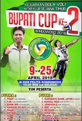 Pembukaan Turnamen Bola Voli Bupati Cup ke-2 Bondowoso