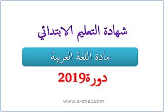 امتحان شهادة التعليم الابتدائي 2019 لغة عربية