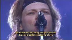 Bon Jovi - Blaze of Glory (Live 1995) Legendado em PT/ENG - Trilha sonora da novela