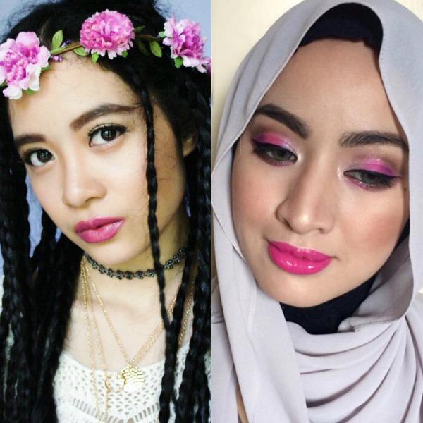 Drugstore Makeup Challenge, Purple & Pink, Makeup Looks, Playful & Snazzy, Shahida MUA, Fresh Young Makeup Look, Glam Makeup Look, Boho, Hijabista